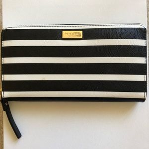 NEW Kate Spade Striped Leather Wallet